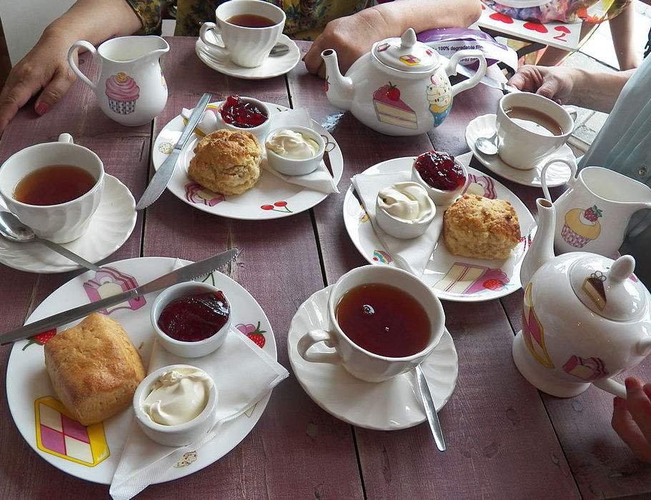 English tea with clotted cream